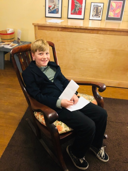 kid in chair